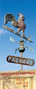 Affiche Passage, manifestation d'art public.